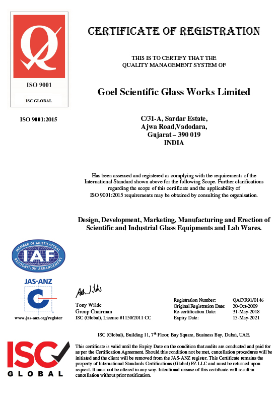 Scientific Glassware India, Glass Blowing Company United States,  Shell & Tube Heat Exchanger, Glass Reactor United States, Custom Glassware, Borosilicate Glass 3.3, Bell Jars, Rotary Evaporator, Distillation apparatus